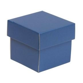 Dárková krabička s víkem 100x100x100/40 mm, modrá