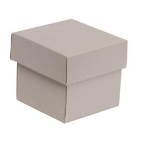Dárková krabička s víkem 100x100x100/40 mm, šedá