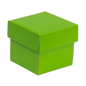 Dárková krabička s víkem 100x100x100/40 mm, zelená
