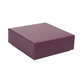Dárková krabička s víkem 100x100x35 mm, vínová matná