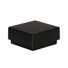 Dárková krabička s víkem 100x100x50/40 mm, černá