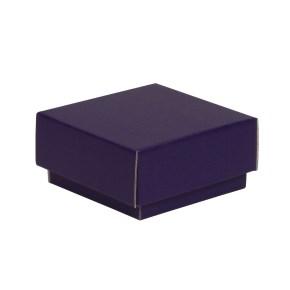 Dárková krabička s víkem 100x100x50/40 mm, fialová