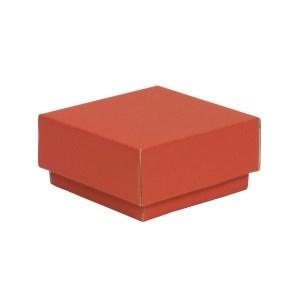 Dárková krabička s víkem 100x100x50/40 mm, korálová