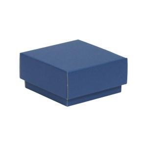 Dárková krabička s víkem 100x100x50/40 mm, modrá