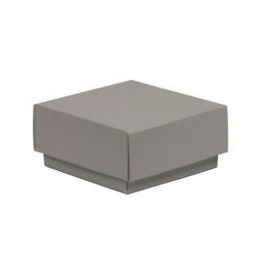 Dárková krabička s víkem 100x100x50/40 mm, šedá