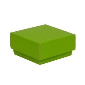 Dárková krabička s víkem 100x100x50/40 mm, zelená