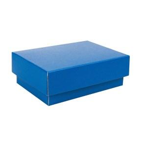 Dárková krabička s víkem 150x100x50/35 mm, modrá matná