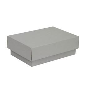 Dárková krabička s víkem 150x100x50/35 mm, šedá matná