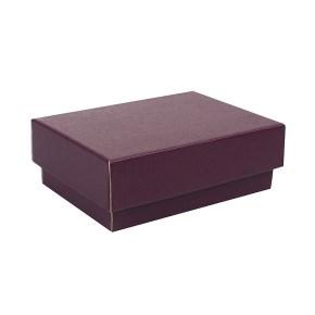 Dárková krabička s víkem 150x100x50/35 mm, vínová matná