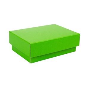Dárková krabička s víkem 150x100x50/35 mm, zelená matná