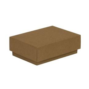 Dárková krabička s víkem 150x100x50/40 mm, hnědá - kraftová