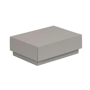 Dárková krabička s víkem 150x100x50/40 mm, šedá