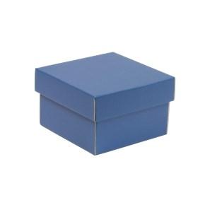 Dárková krabička s víkem 150x150x100/40 mm, modrá