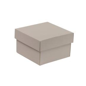 Dárková krabička s víkem 150x150x100/40 mm, šedá