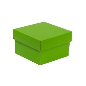 Dárková krabička s víkem 150x150x100/40 mm, zelená