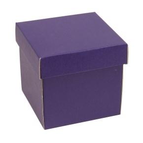 Dárková krabička s víkem 150x150x150/40 mm, fialová