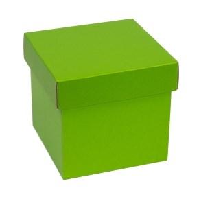 Dárková krabička s víkem 150x150x150/40 mm, zelená