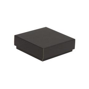 Dárková krabička s víkem 150x150x50/40 mm, černá