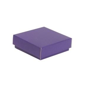 Dárková krabička s víkem 150x150x50/40 mm, fialová