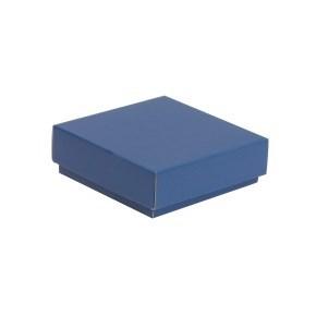 Dárková krabička s víkem 150x150x50/40 mm, modrá