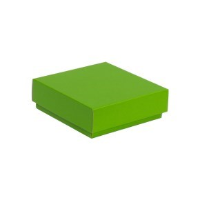 Dárková krabička s víkem 150x150x50/40 mm, zelená