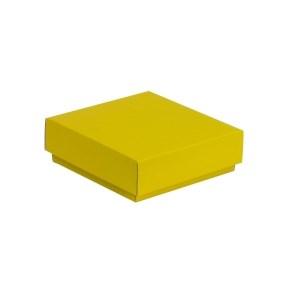 Dárková krabička s víkem 150x150x50/40 mm, žlutá