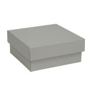 c6f6d9c03 Dárková krabička s víkem 150x150x65/35 mm, šedá matná