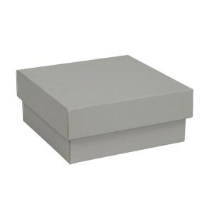 Dárková krabička s víkem 150x150x65/35 mm, šedá matná