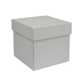 Dárková krabička s víkem 180x180x180/50 mm, šedá matná