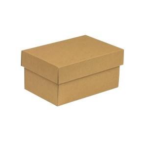 Dárková krabička s víkem 200x125x100/40 mm, hnědá - kraftová