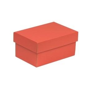 Dárková krabička s víkem 200x125x100/40 mm, korálová