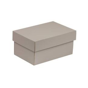 Dárková krabička s víkem 200x125x100/40 mm, šedá