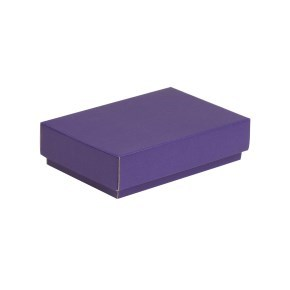 Dárková krabička s víkem 200x125x50/40 mm, fialová