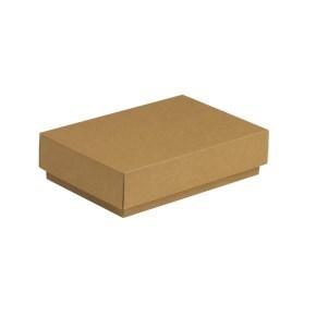 Dárková krabička s víkem 200x125x50/40 mm, hnědá - kraftová