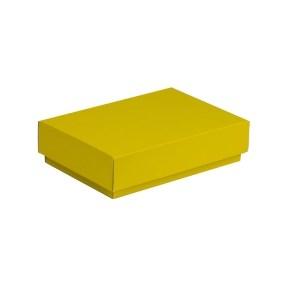 Dárková krabička s víkem 200x125x50/40 mm, žlutá