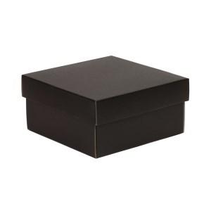 Dárková krabička s víkem 200x200x100/40 mm, černá