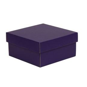 Dárková krabička s víkem 200x200x100/40 mm, fialová