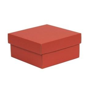 Dárková krabička s víkem 200x200x100/40 mm, korálová