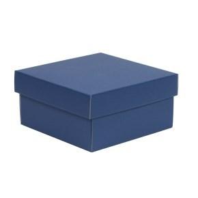 Dárková krabička s víkem 200x200x100/40 mm, modrá