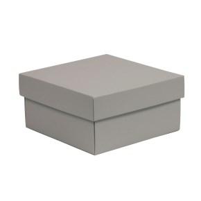 Dárková krabička s víkem 200x200x100/40 mm, šedá