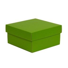 Dárková krabička s víkem 200x200x100/40 mm, zelená