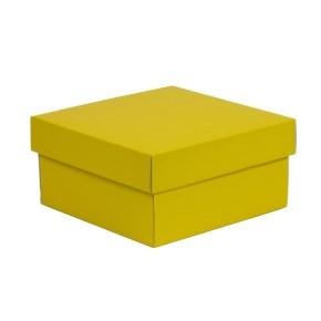 Dárková krabička s víkem 200x200x100/40 mm, žlutá