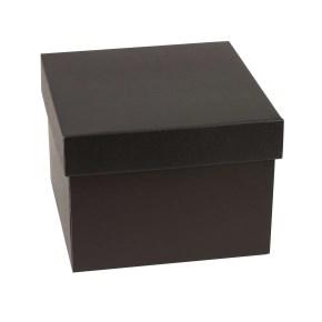 Dárková krabička s víkem 200x200x150/40 mm, černá