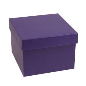 Dárková krabička s víkem 200x200x150/40 mm, fialová