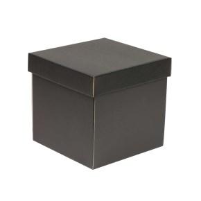 Dárková krabička s víkem 200x200x200/40 mm, černá
