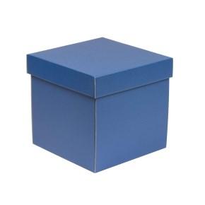 Dárková krabička s víkem 200x200x200/40 mm, modrá