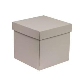 Dárková krabička s víkem 200x200x200/40 mm, šedá