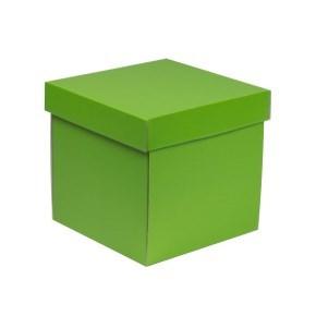 Dárková krabička s víkem 200x200x200/40 mm, zelená