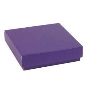 Dárková krabička s víkem 200x200x50/40 mm, fialová