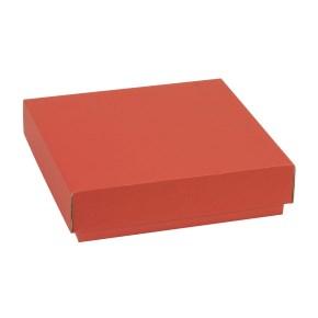 Dárková krabička s víkem 200x200x50/40 mm, korálová